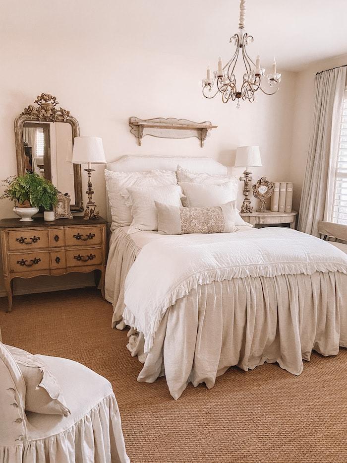 designer French chic home bedroom