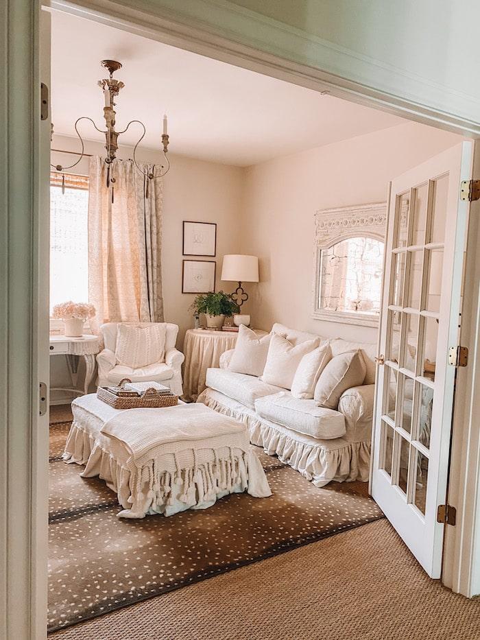 designer French chic home family room