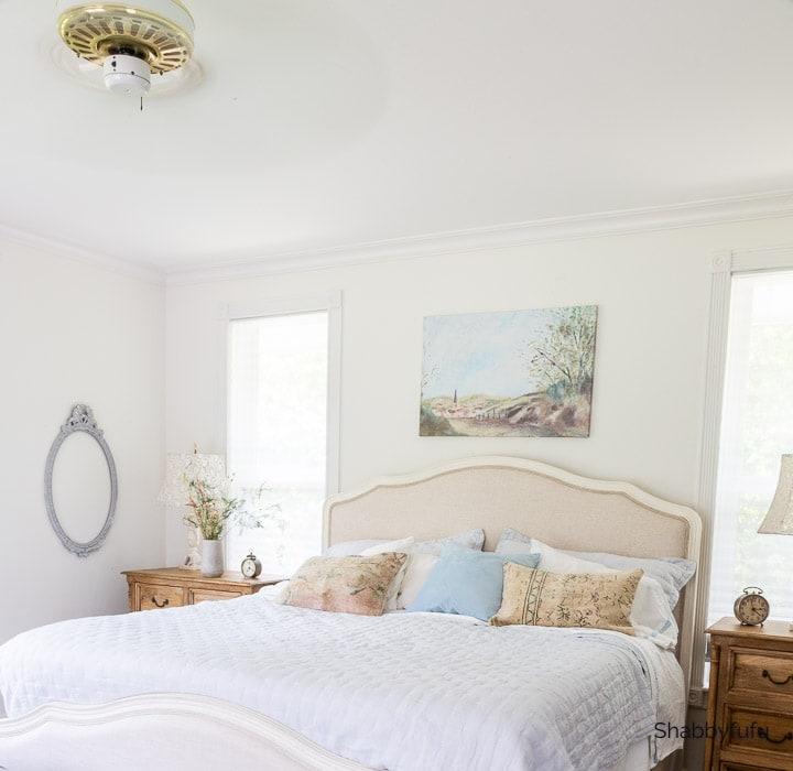 European farmhouse style bedroom
