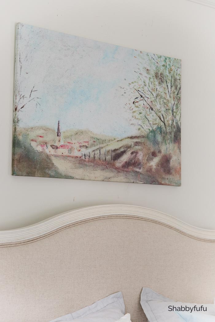French farmhouse style pastoral painting