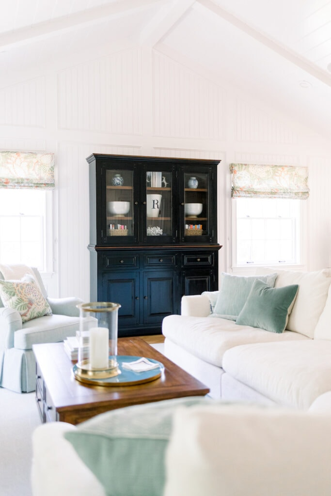 white great room relaxed California cottage home