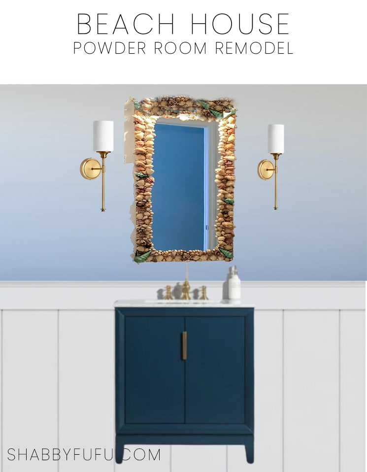bathroom remodeling plans coastal powder room