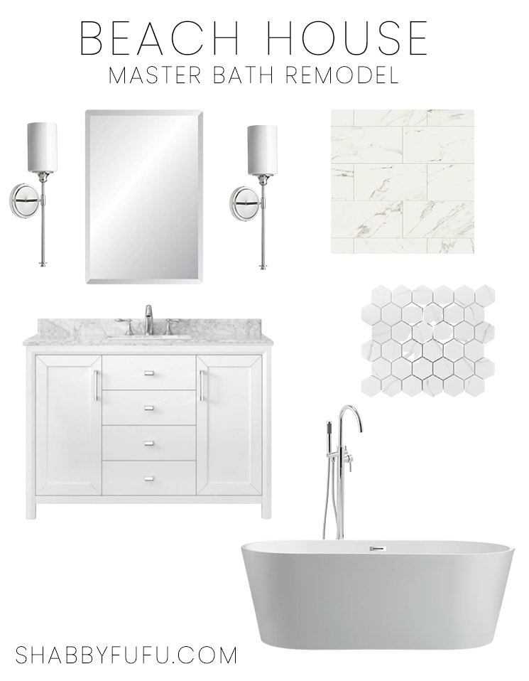 shabbyfufu beach house master bathroom remodel mood board