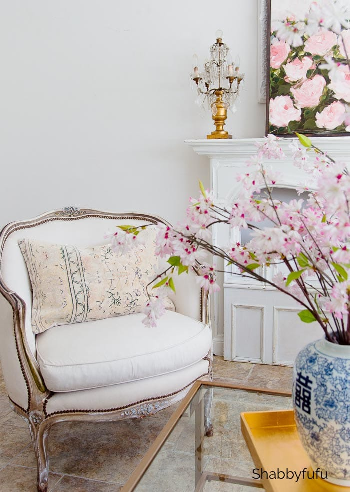 decorate with calming colors french chair