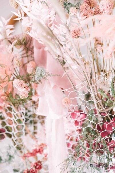 dried flower chandelier