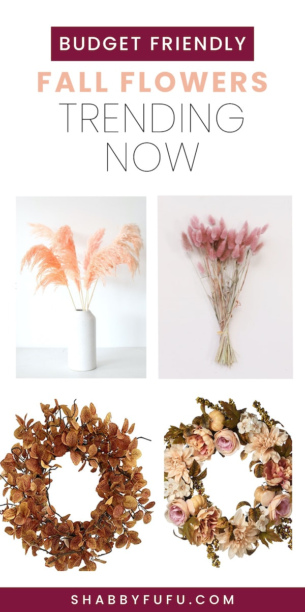 Budget friendly fall flowers and wreaths 2020
