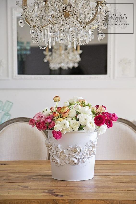 upcycle a flower bucket diy