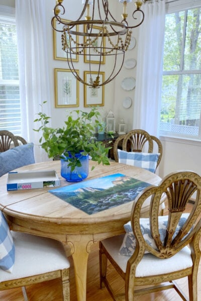 urban cottage empty nester home dining room