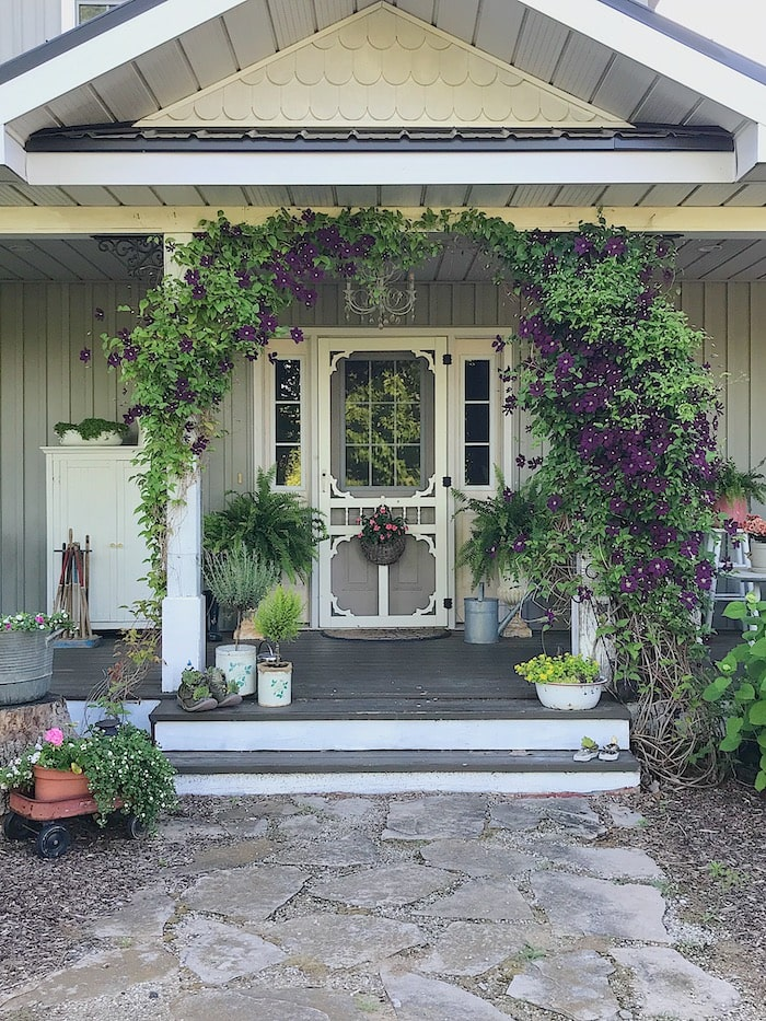 farmhouse chic home budget front porch