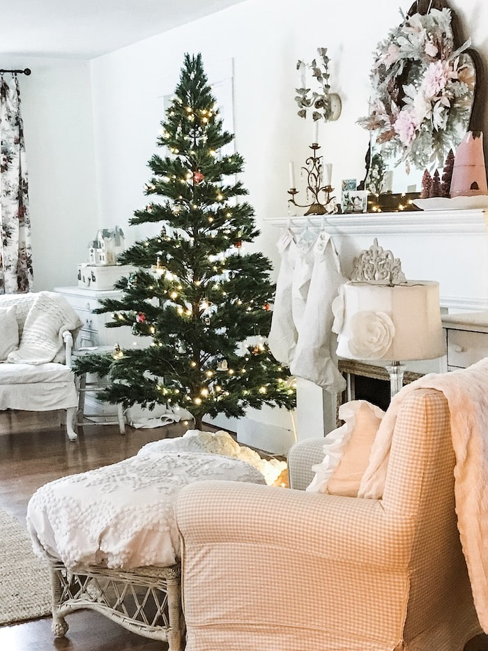 Christmas farmhouse chic home budget