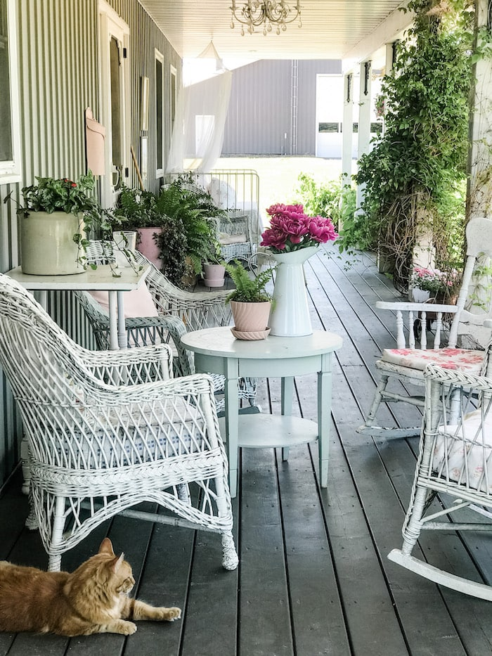 porch farmhouse chic home budget
