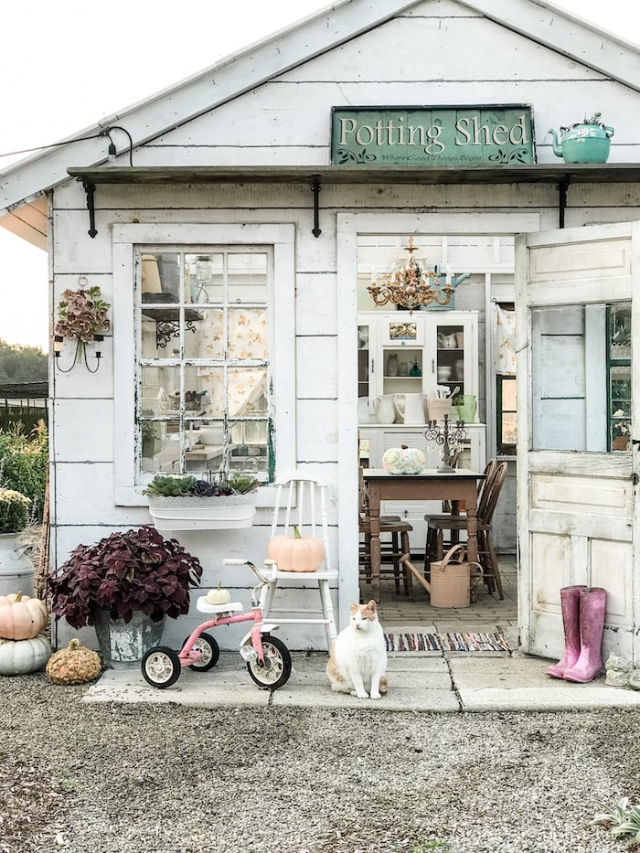 pretty potting shed farmhouse chic home budget