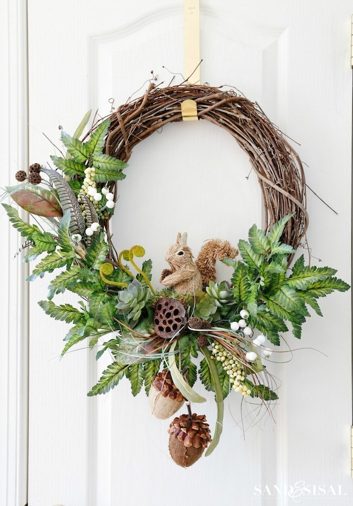 DIY Fall Woodland Wreath