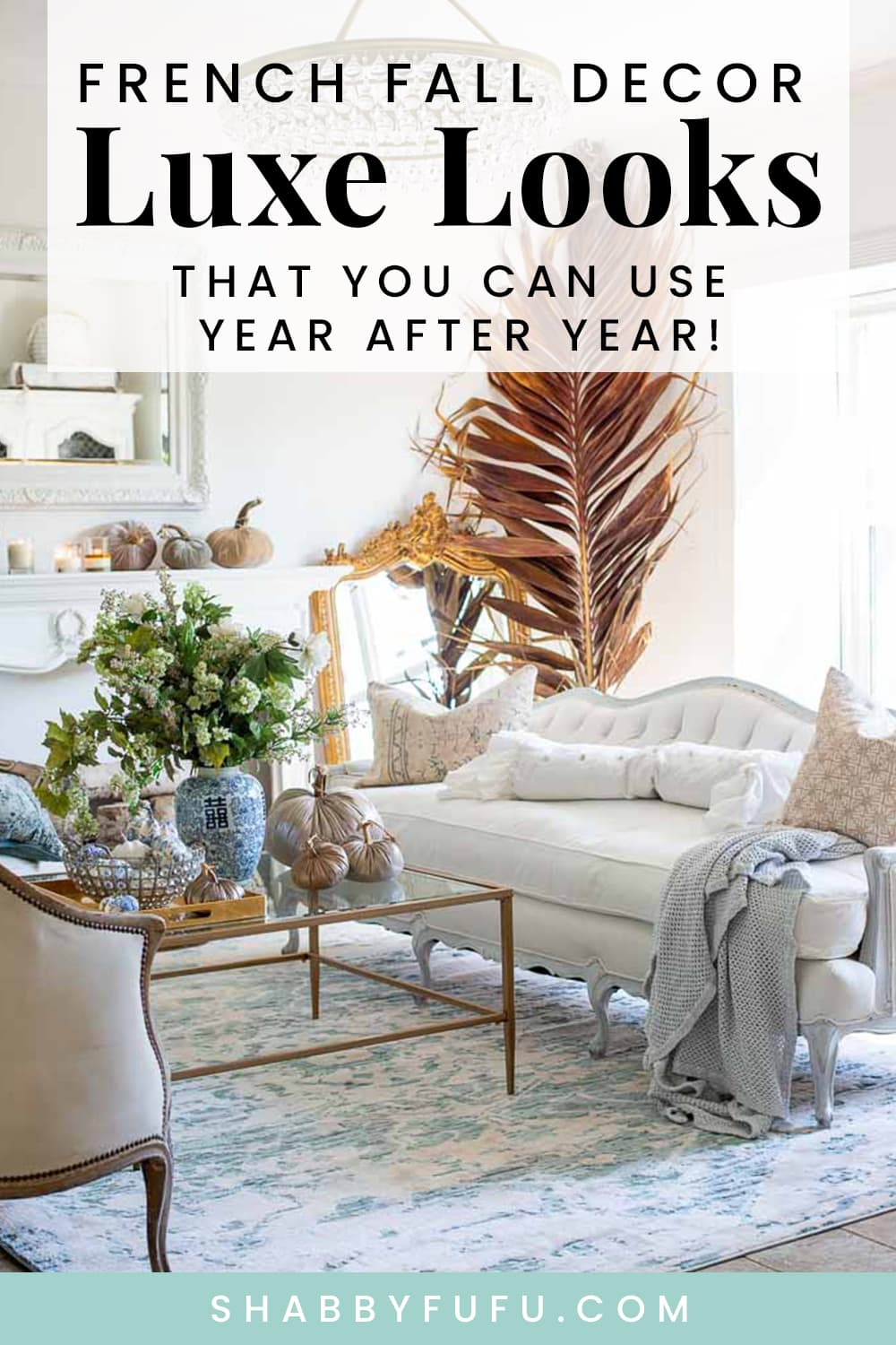 French Fall Decor In The Living Room