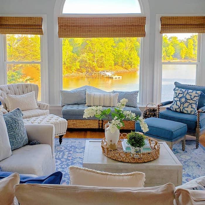 coastal farmhouse style lake house tour