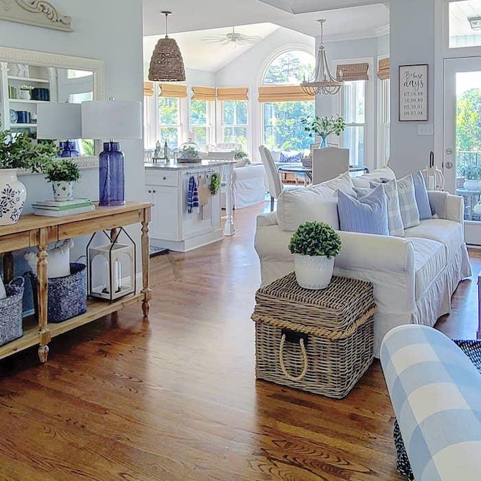 modern coastal farmhouse style remodeled home