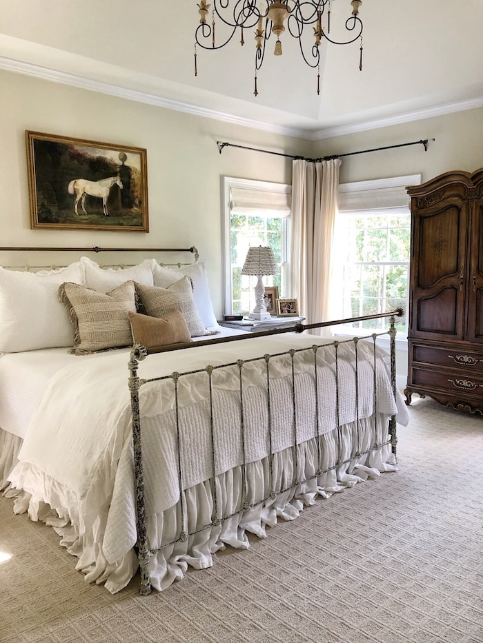 French farmhouse home tour bedroom