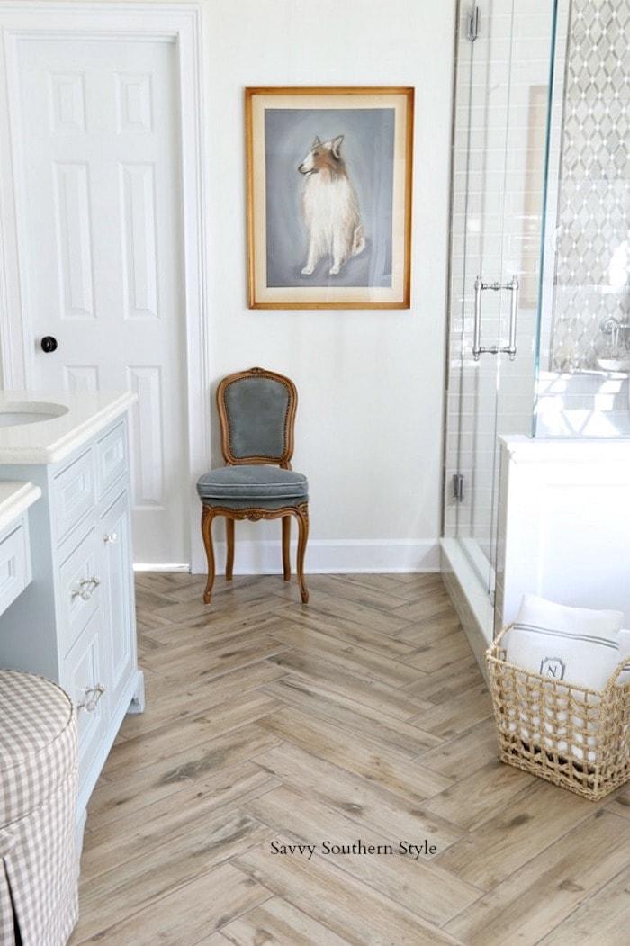 french style master bathroom