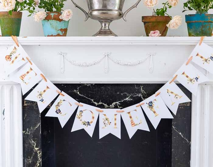 pretty welcome fall printable banner