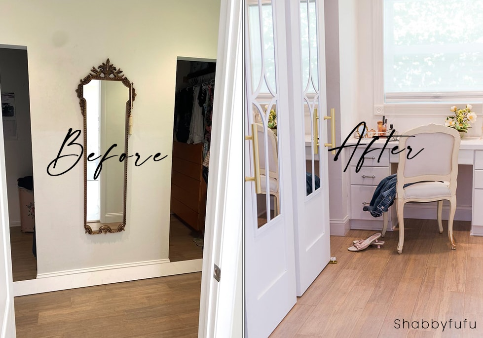 before after barn door