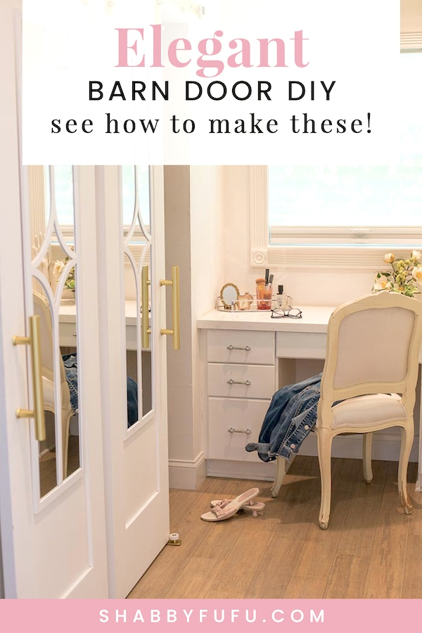 elegant barn door diy SHABBYFUFU