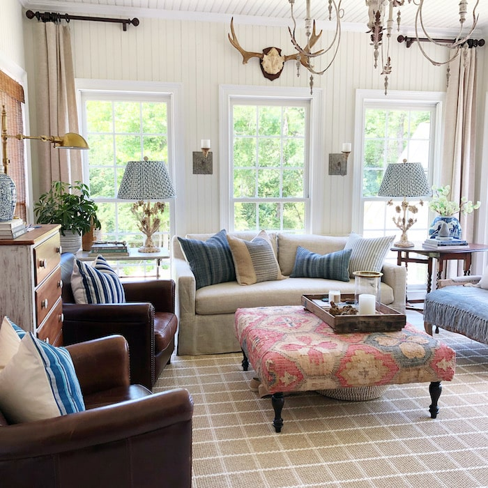 french farmhouse style family room