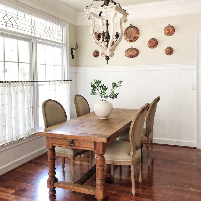 European farmhouse dining room