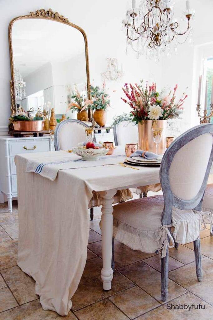 linen dropcloth tablecloth