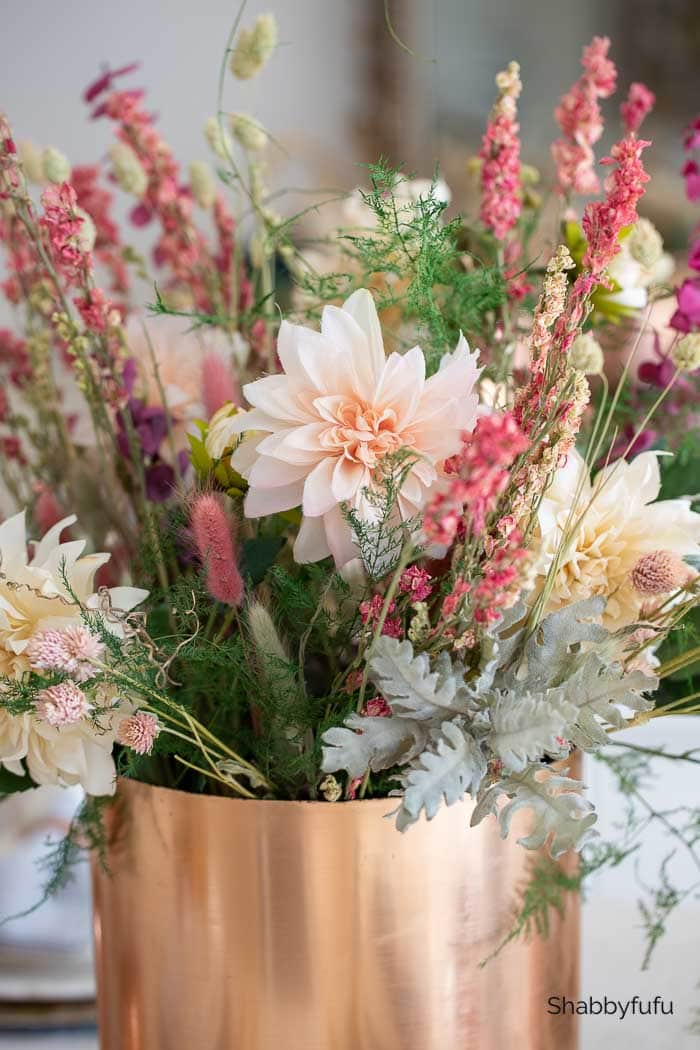 European rustic farmhouse flower arrangement