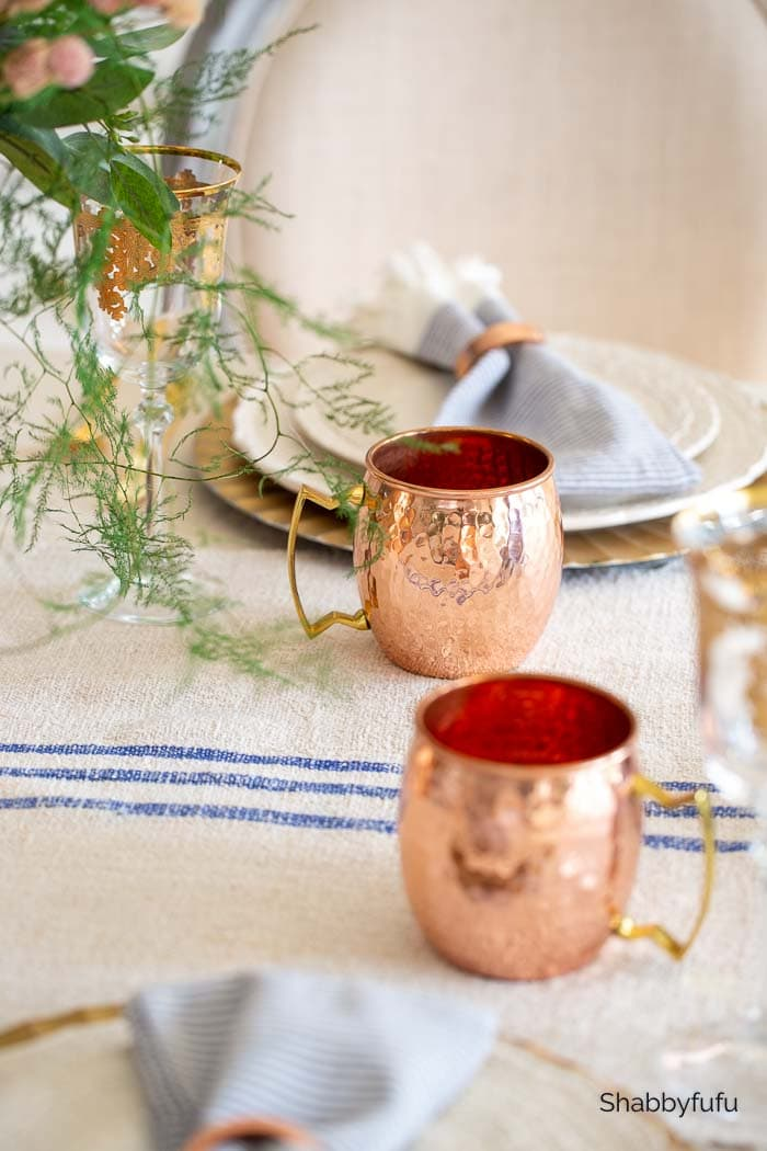 European rustic decor moscow mule mugs