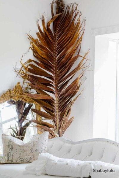 shabbyfufu fall palm frond