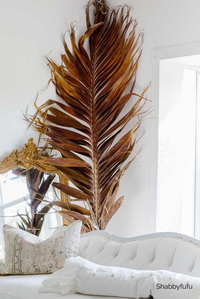 shabbyfufu fall palm frond