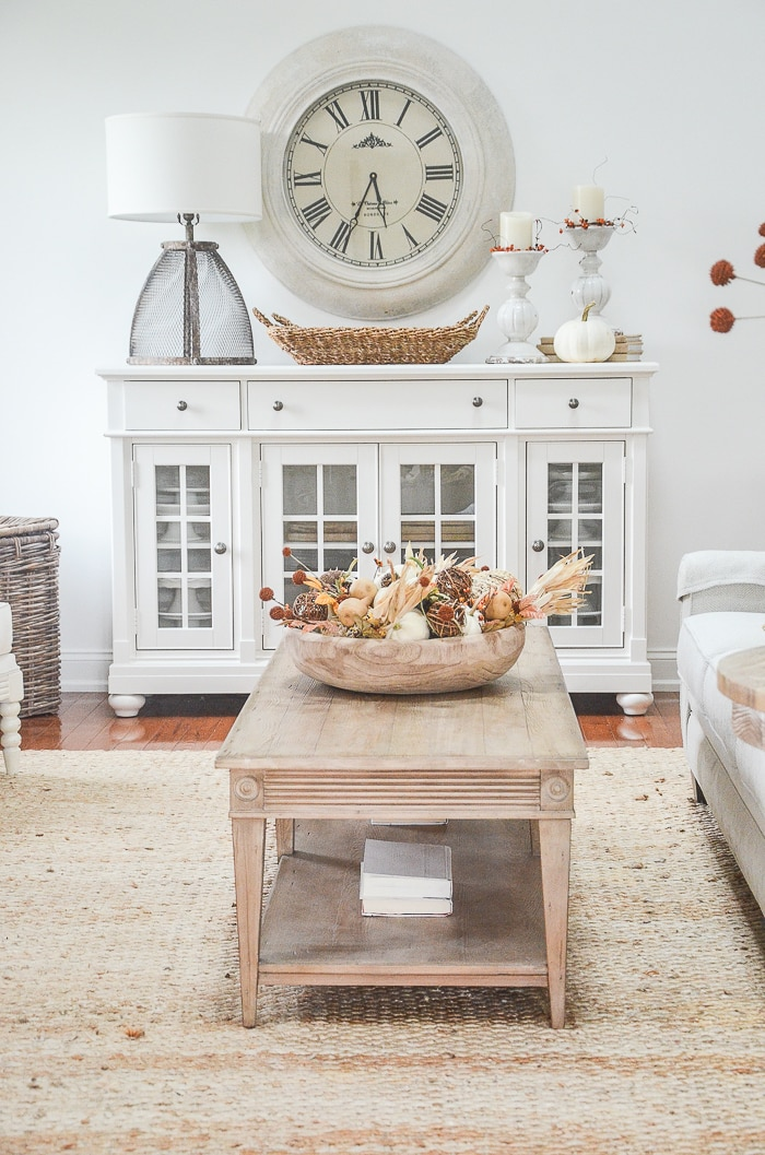 transitional style farmhouse coffee table