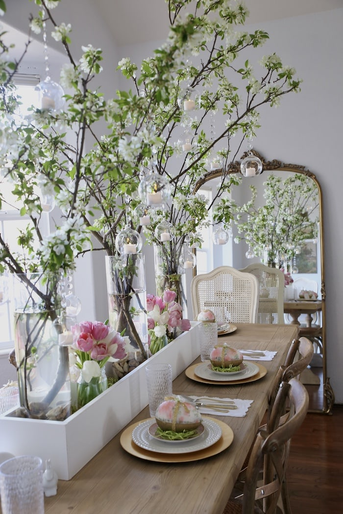 spring dining room French style home