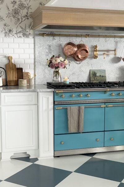 lacanche blue stove French style home