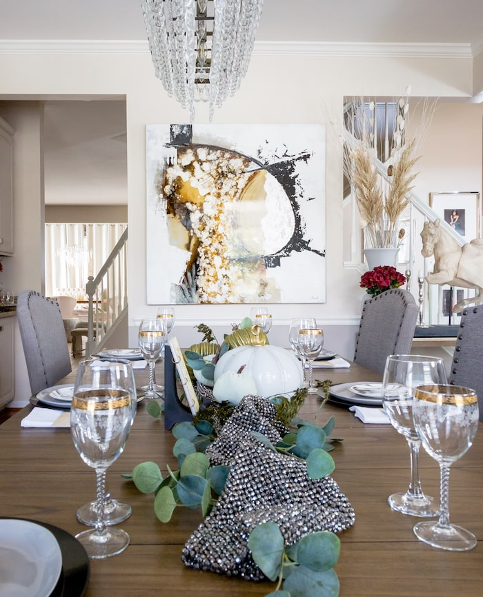 Fall glam home tour dining room