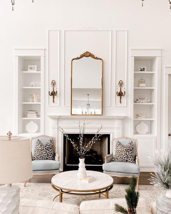 modern French interior living room