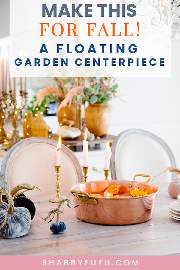 floating garden centerpiece for fall shabbyfufu