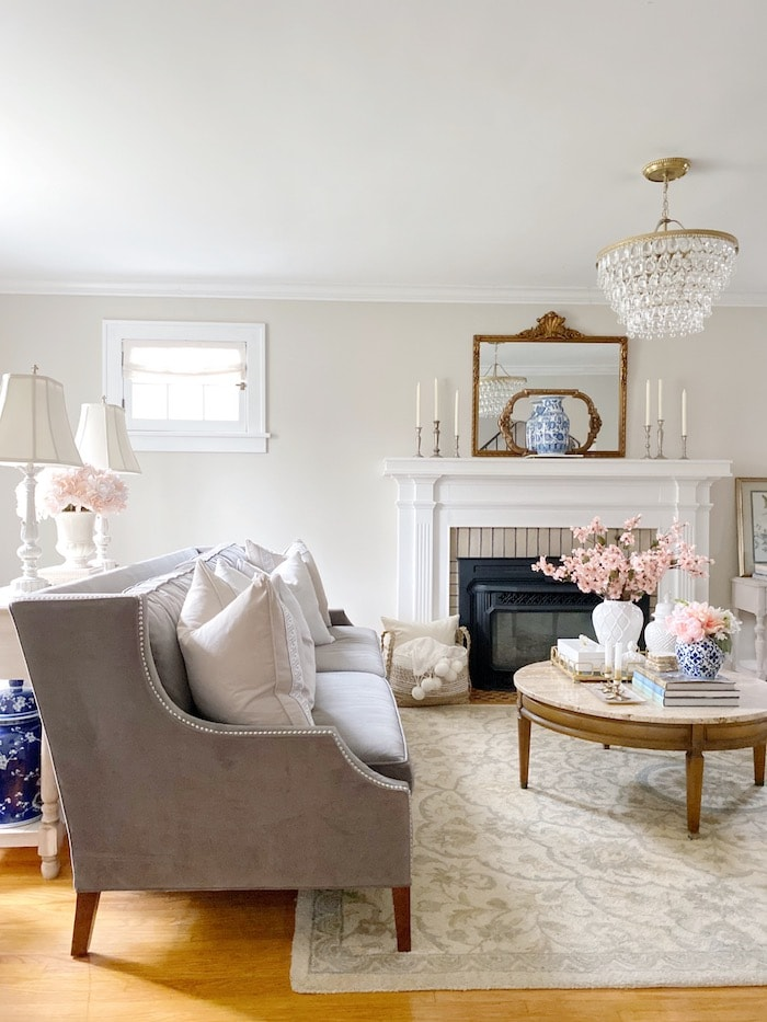 living room with casual elegance