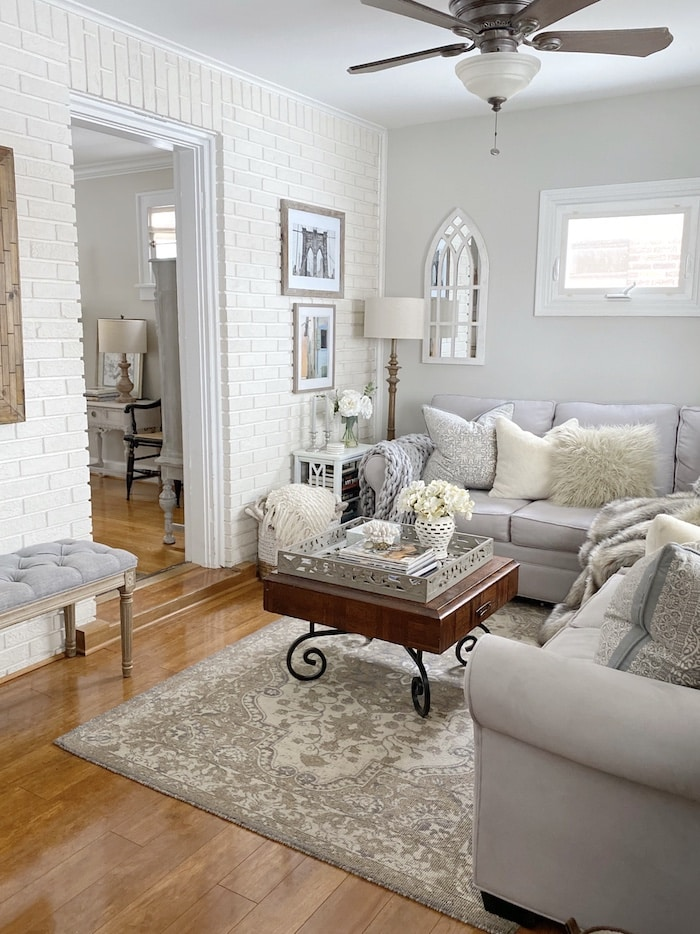 family room with casual elegance