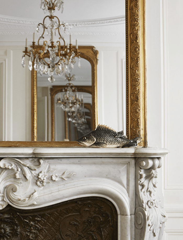 modern French carved mantel