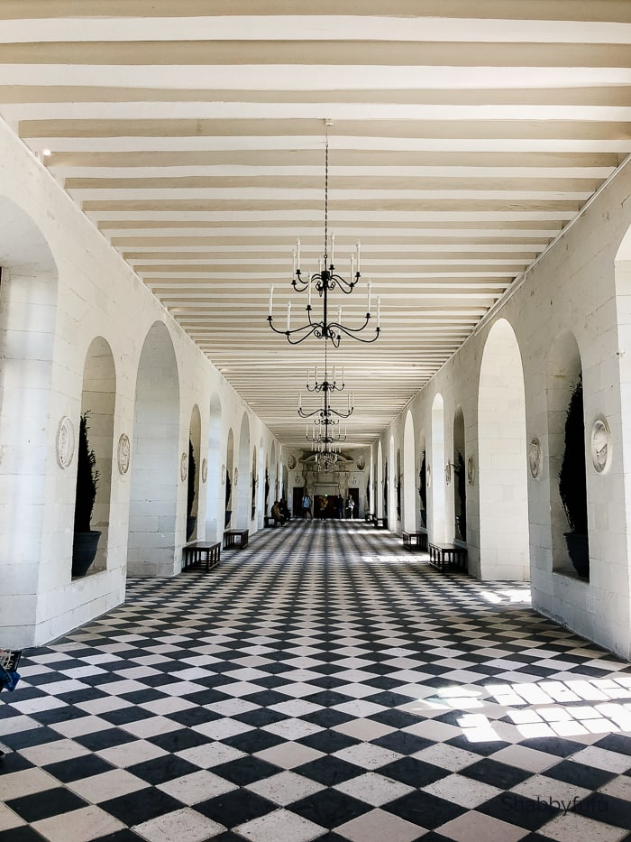 contemporary French interiors chateau marble patterned floor