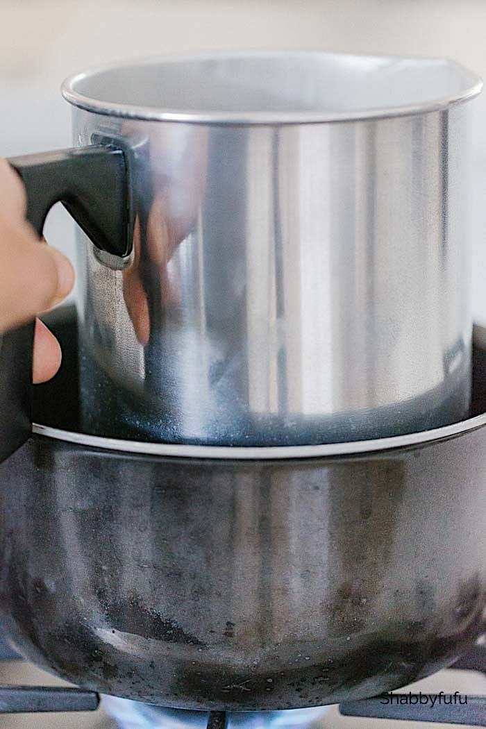 double boiler for melting wax