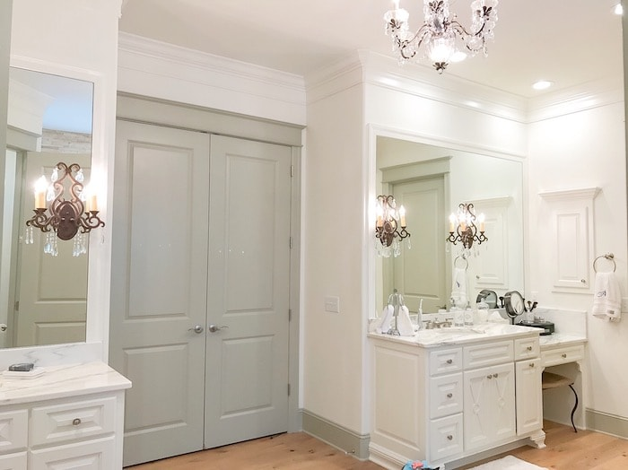 master bathroom with white marble