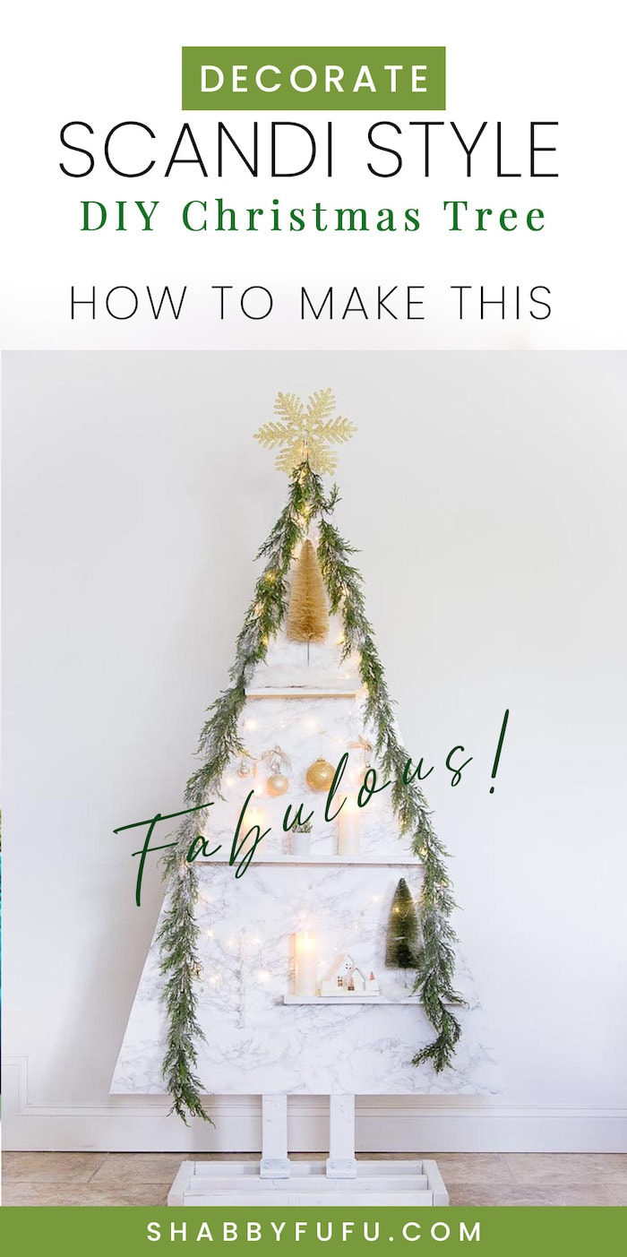 Scandinavian Style Christmas Tree - DIY