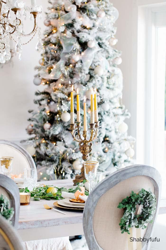 gold Christmas decor shabbyfufu