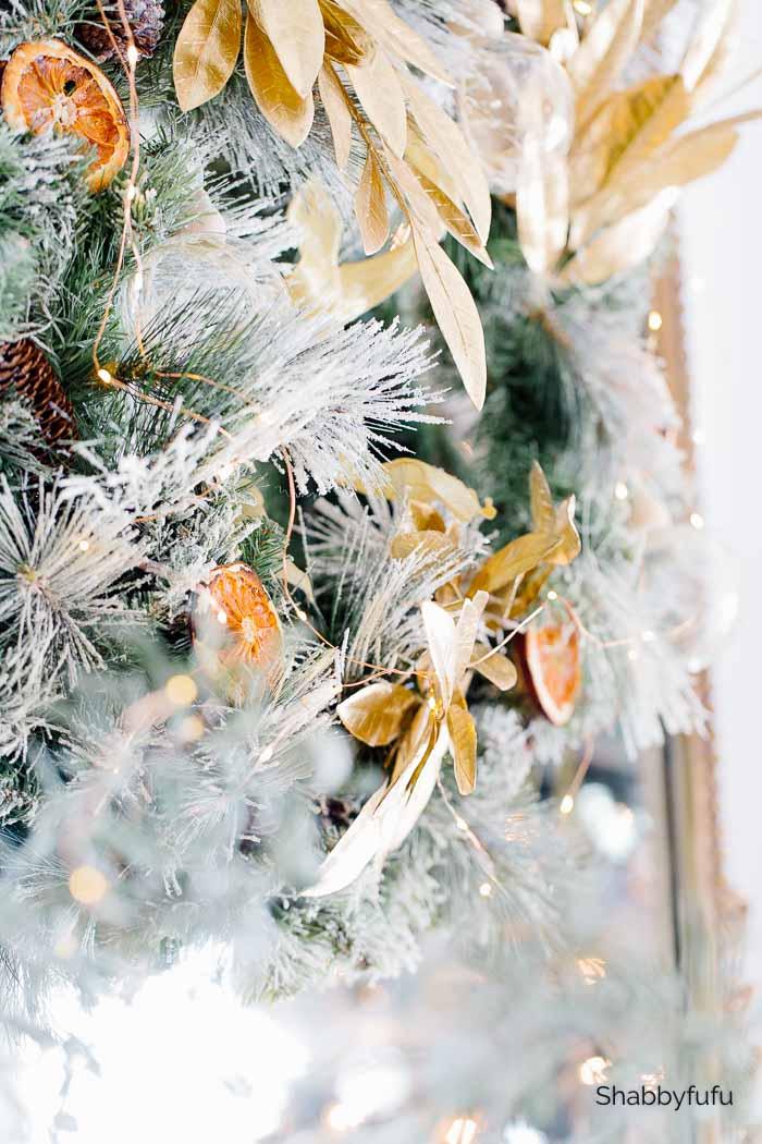 Shabbyfufu gold wreath Christmas 2020