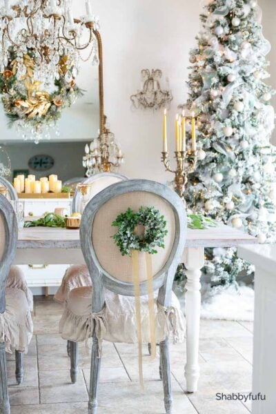 Shabbyfufu I Gold Christmas Decor dining room 2020