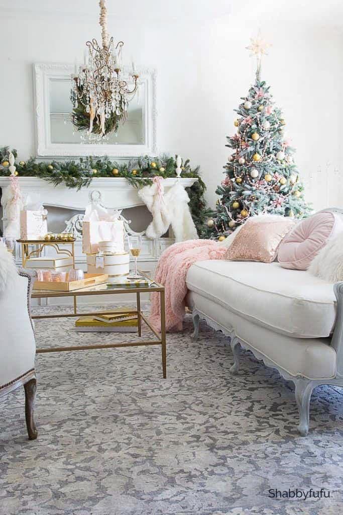 Shabbyfufu pink Christmas decorations