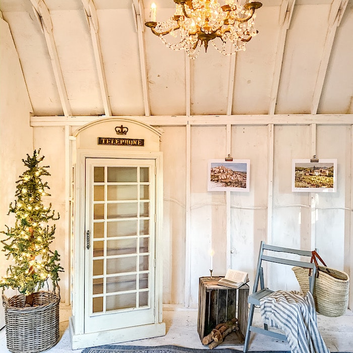 Christmas in a farm shed